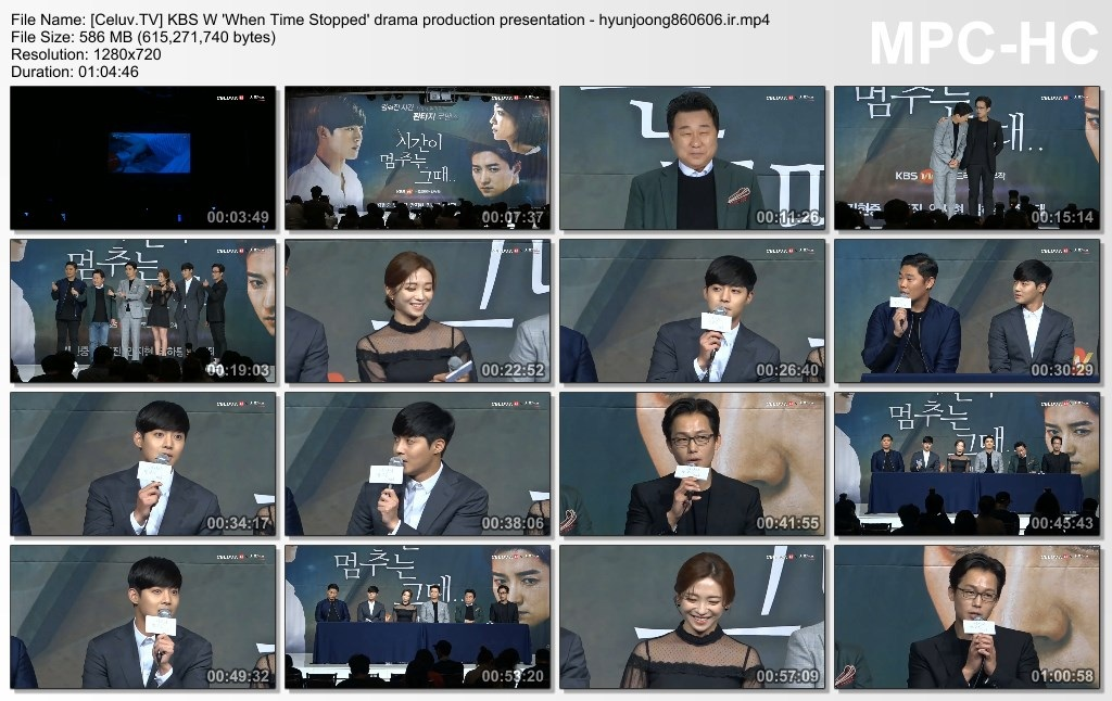 Celuv.TV] KBS W 'When Time Stopped' drama production presentation - hyunjoong860606.ir]